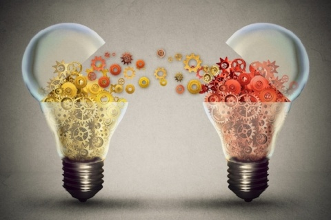 Idea exchange concept. Ideas agreement Investing in business innovation and financial commerce backing of creativity. Open lightbulb icon with gear mechanisms. Funding potential innovative growth -466788-edited.jpeg