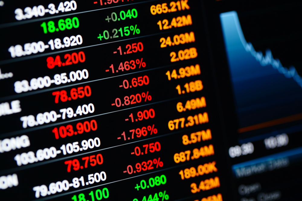 Stock market data on LED display.jpeg