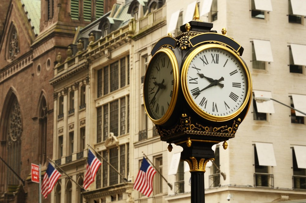 old clock on the avenues of new york city